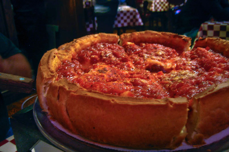 Deep Dish Pizza - Chicago Style
